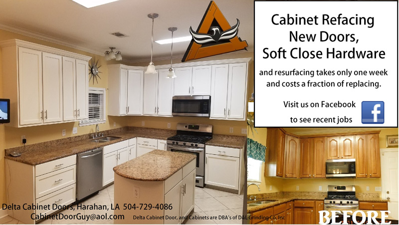 Delta Cabinetry Of New Orleans Cabinet Refacing